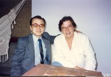 O músico Hidenori Sakao e Tom Jobim