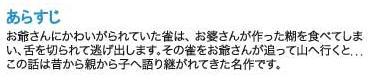 Kamishibai - A pardal que perdeu a língua - sinopse em japones